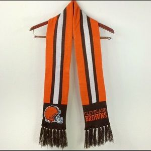 Cleveland Brown Striped Knit Scarf